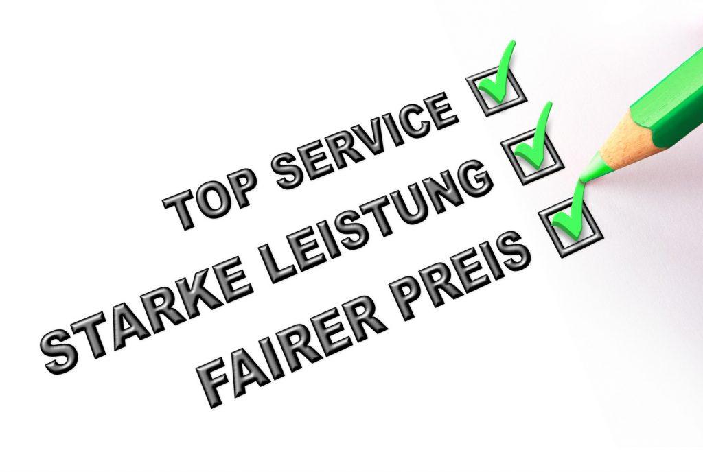 Service und Preise